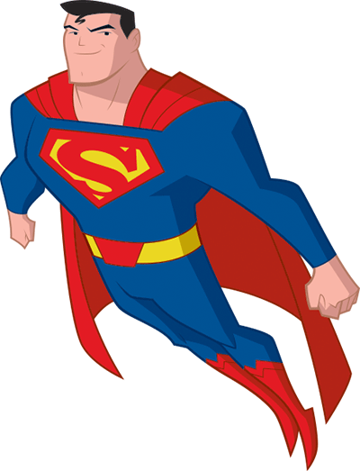P transparent superman.