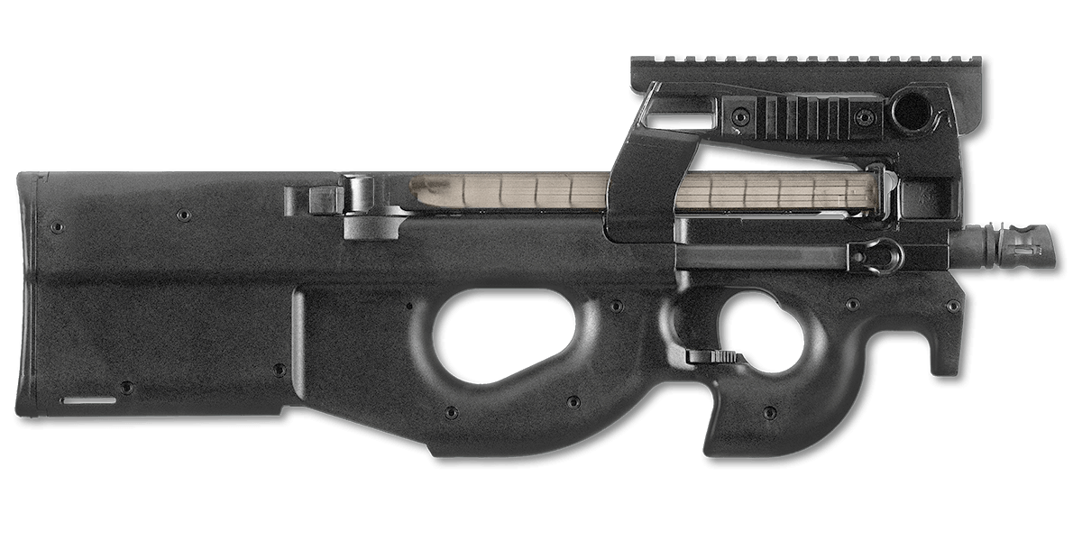 Fn p. P90 clip real graphic royalty free