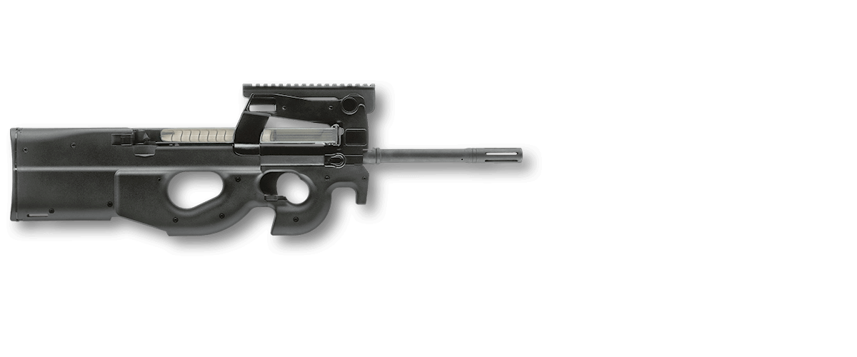 Fn p ps rd. P90 clip real graphic royalty free