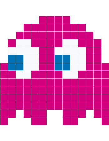 Pacman ghosts png. Pink ghost wall decals