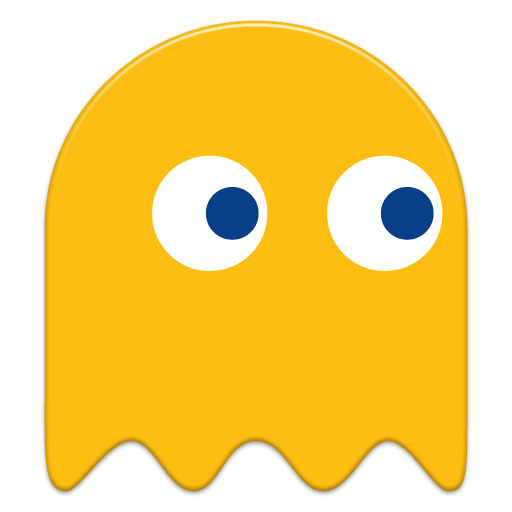 Pac man png. Pacman yellow ghost transparent