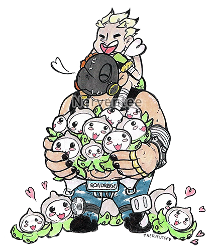 Pachimari drawing chibi. Roadhog tumblr have some