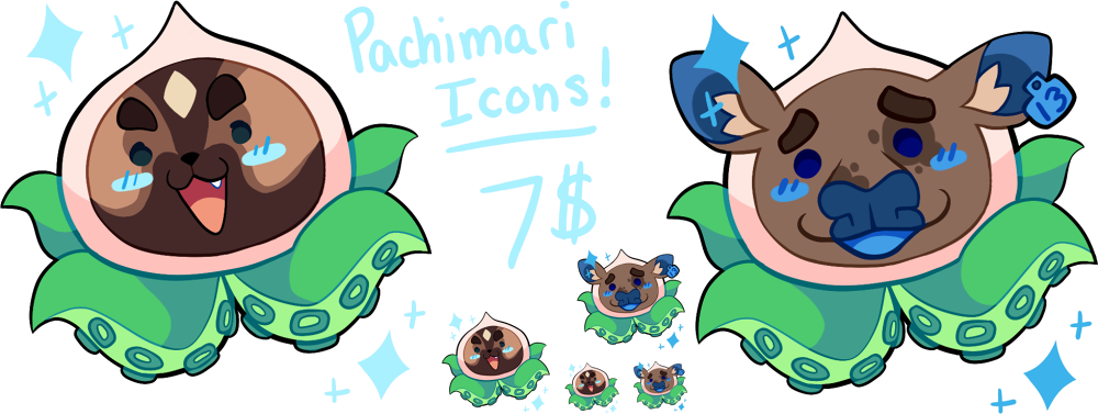 Pachimari drawing gold. Icon commissions closed by