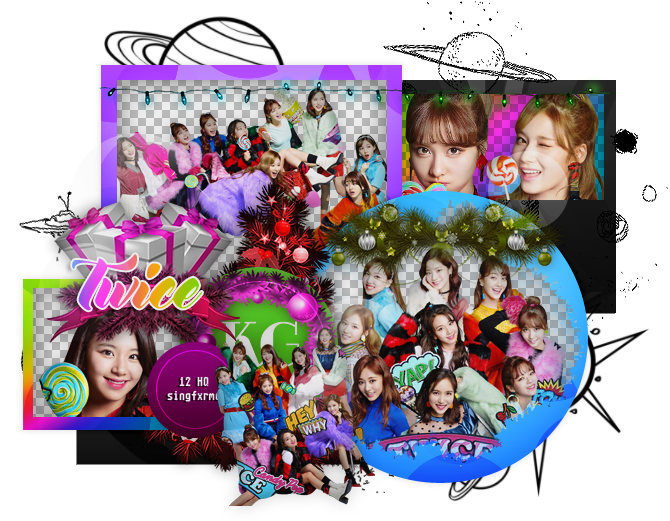 Pack de imagenes png. Twice candy pop by
