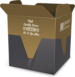 Packaging vector. Boxes free ai eps