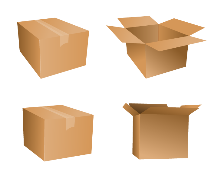 Package vector box. Free cardboard icons drupal