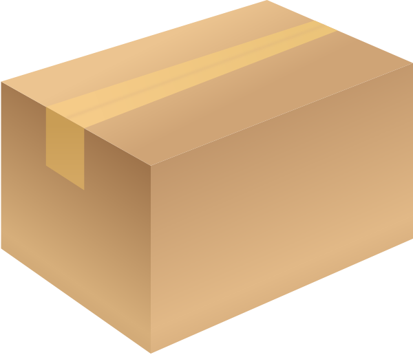 Svg boxes vector. Carton box brown closed