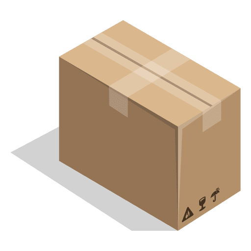 Package vector packaging. Sealed box with signs