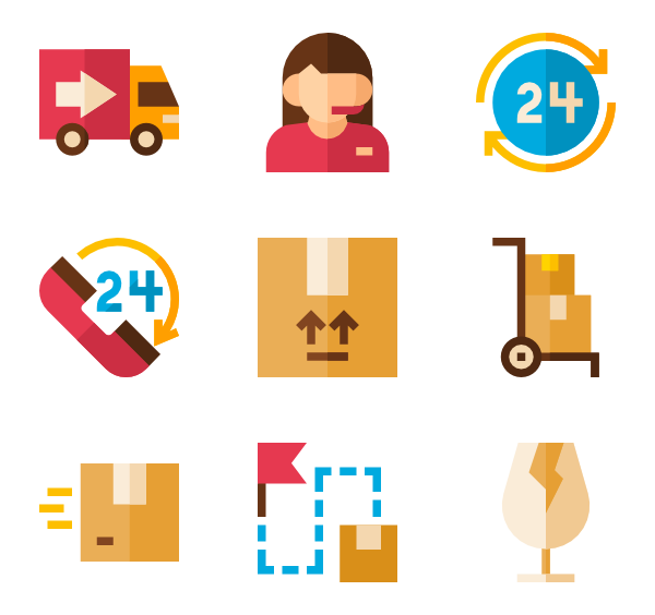 Package vector web. Packages icons free delivery