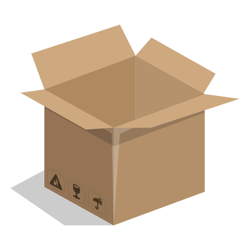 Square box with package. Packaging vector image royalty free download