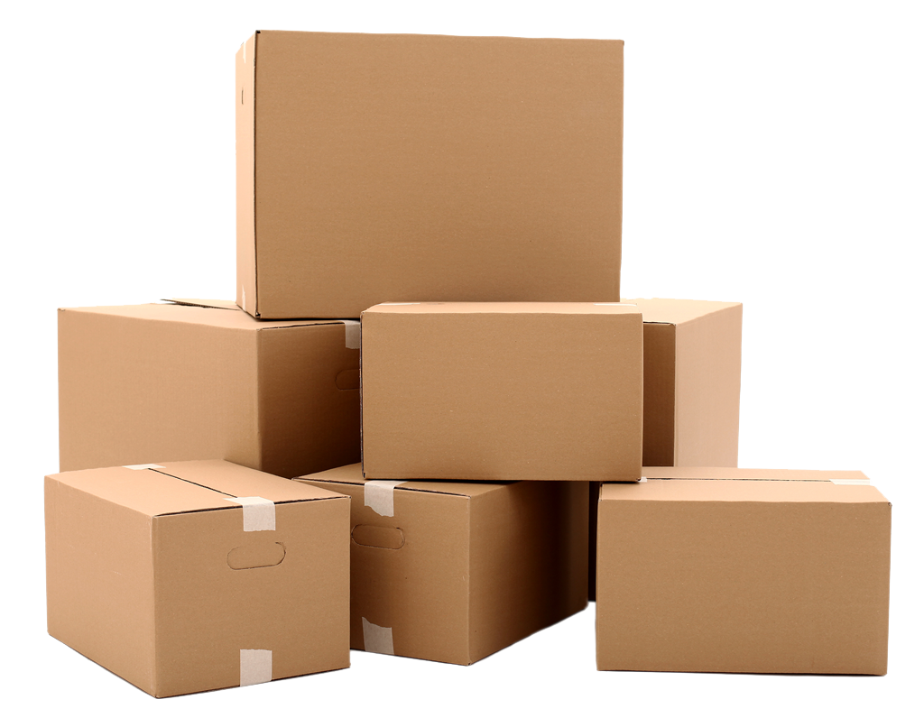 Packaging vector background. Package box png image