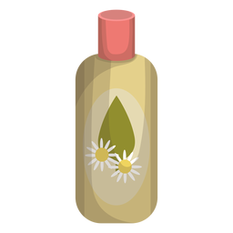 Packaging vector cosmetic bottle. Realistic set download camomile