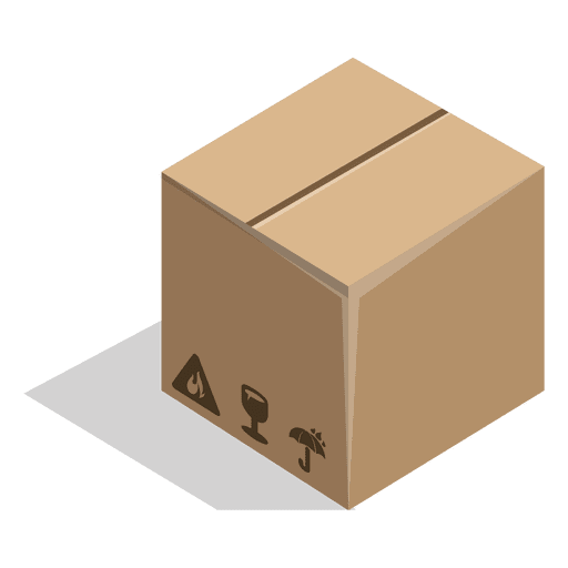 Packaging vector shipping. Closed box with package
