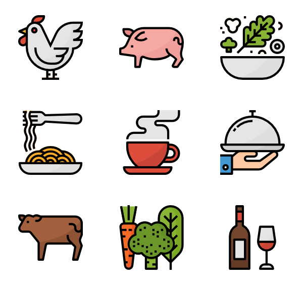 Packaging vector snack. Icons free food