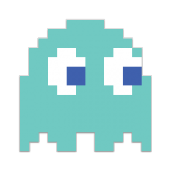 Pacman blue ghost png. Pac man image mart