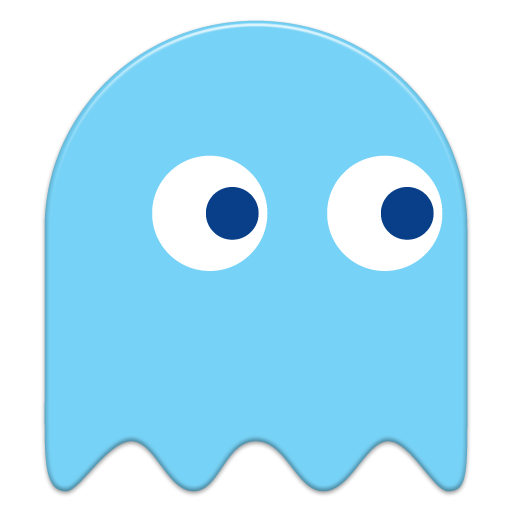 Pacman blue ghost png. Icon x geek pinterest