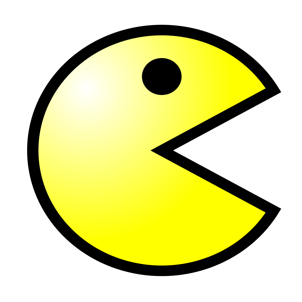 Pacman svg yellow. File pac man wikimedia
