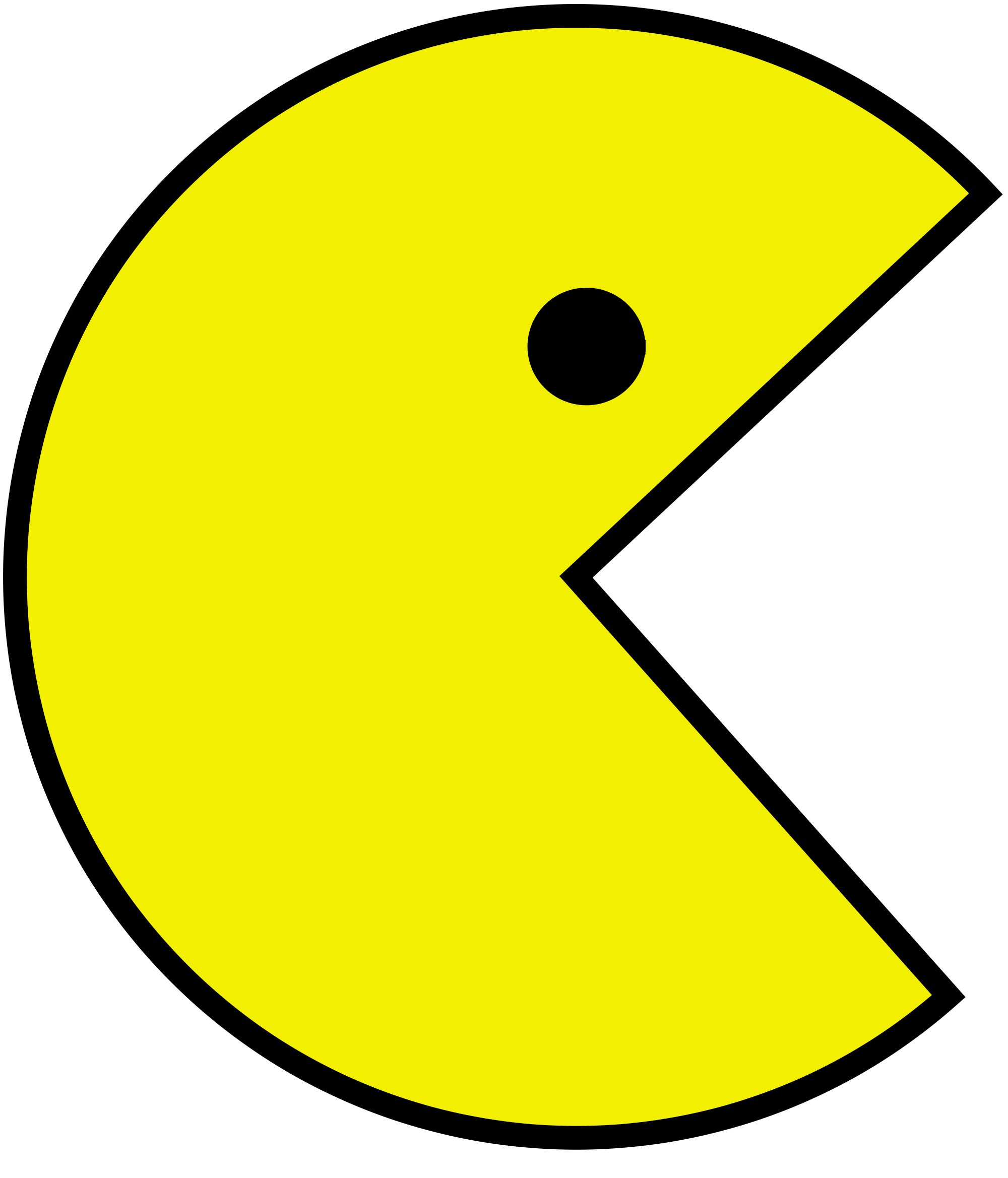 Pacman svg. Pac man know your