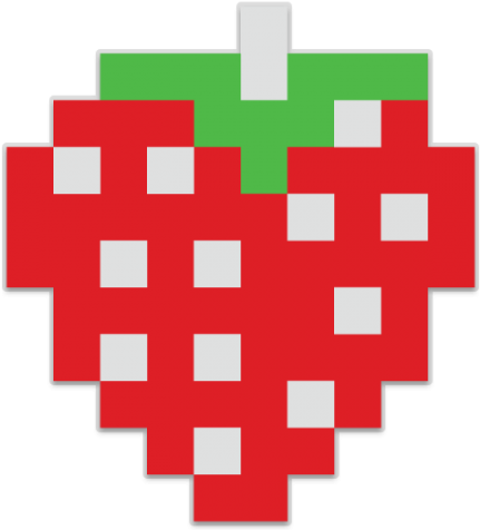 Pacman fruit png. Download strawberry clipart image