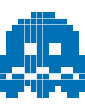 Pacman ghosts png. Blue ghost wall decals