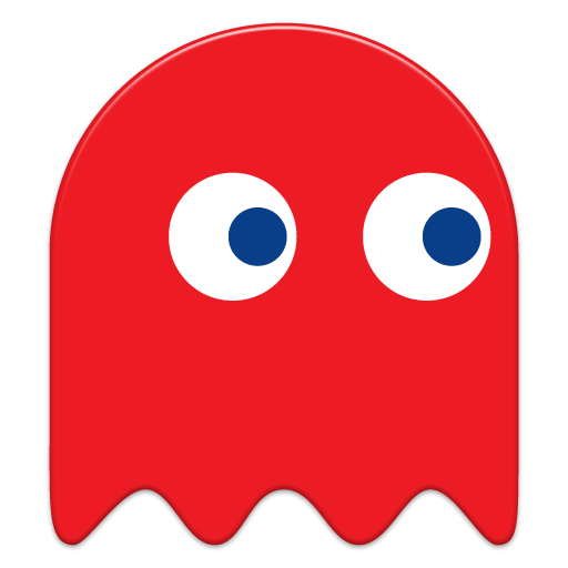 Pacman ghost blue png. Icon x pac man