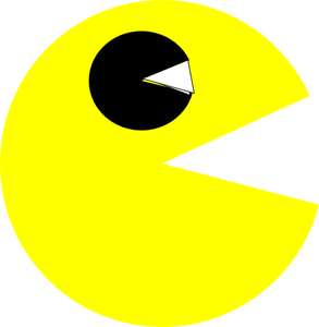 Pac-man png bitmap. Pacman markers and pencils