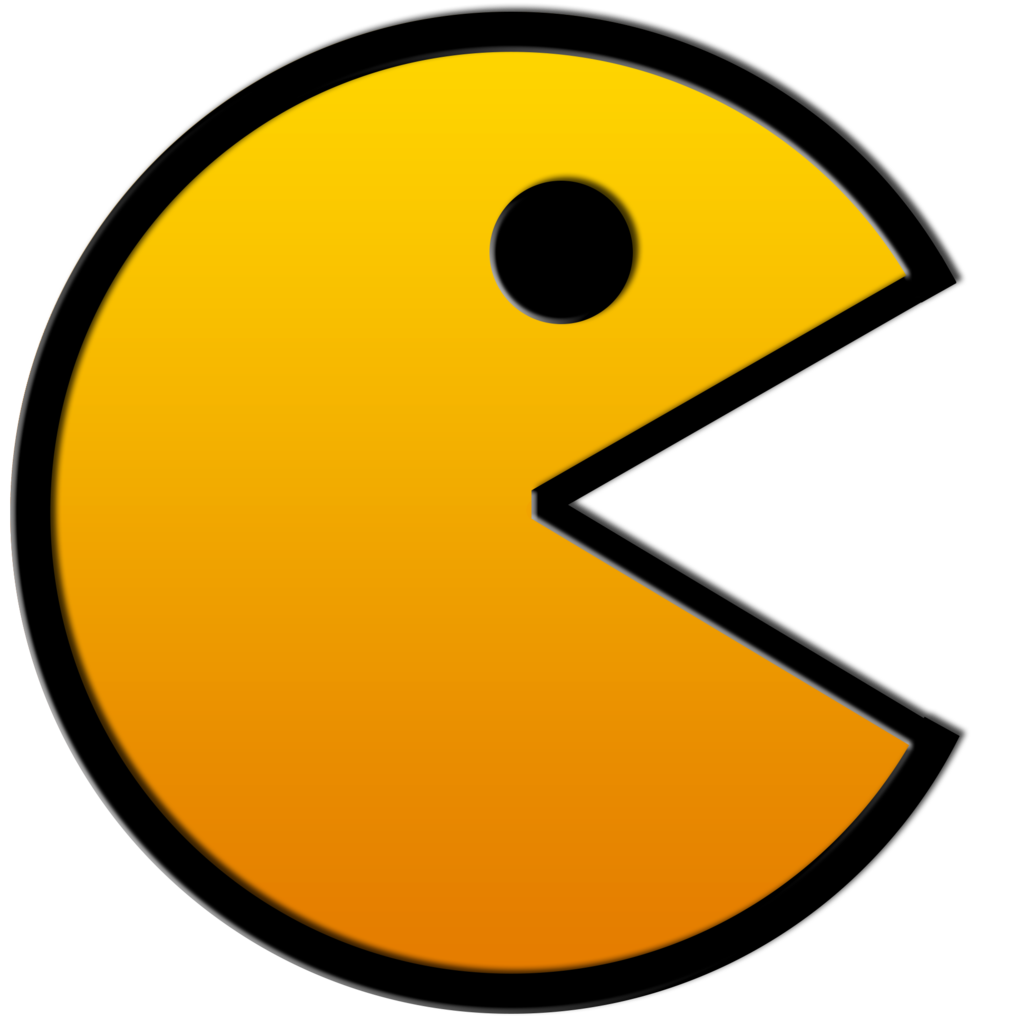 Pacman svg 80's. Banner free download