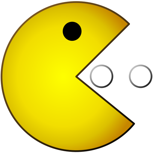Pacman svg 80's. Pac man became immensely