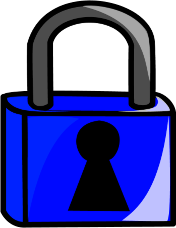 Padlock clipart blue. Lock pencil and in
