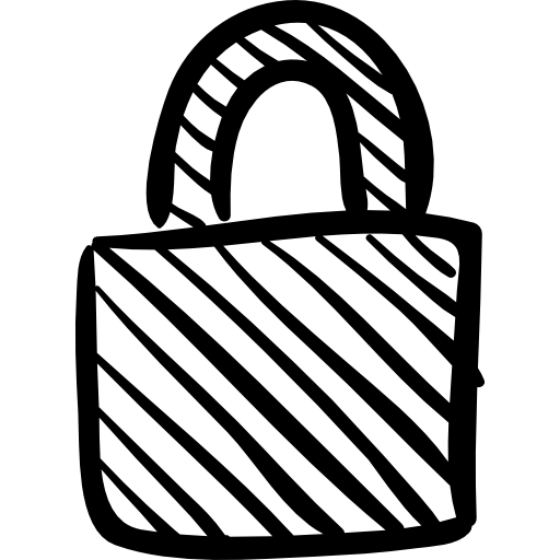 Padlock drawing sketch. Locked free security icons