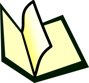 Page clipart booklet. Open book at getdrawings