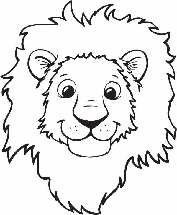 Page clipart coloring. Lion head face
