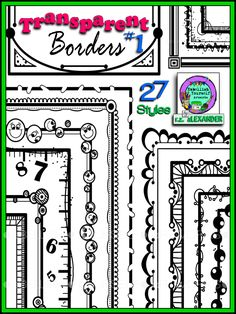 Page clipart multiple. This corner border divider