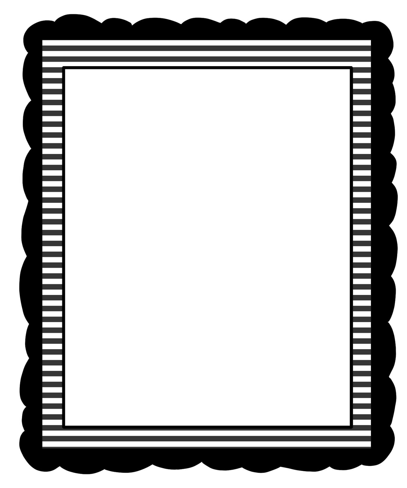 Checker vector border. Simple page clipart library