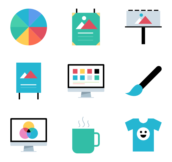 Page vector graphic design. Icon packs for