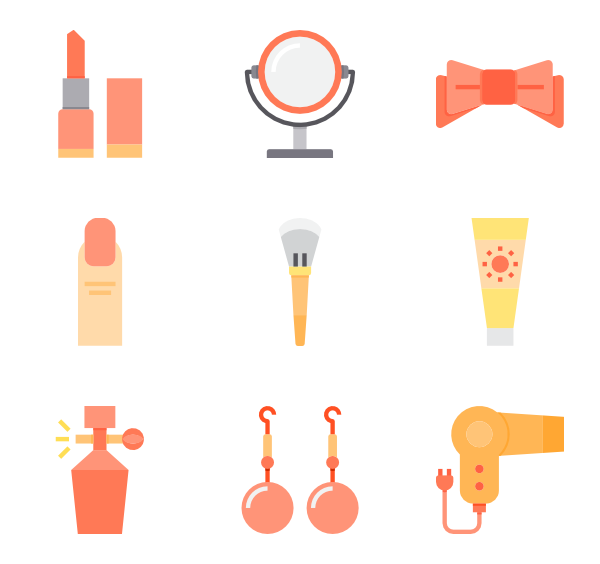 Page vector liner. Makeup icons free make