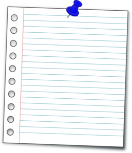 Page vector notebook. Paper clip art at