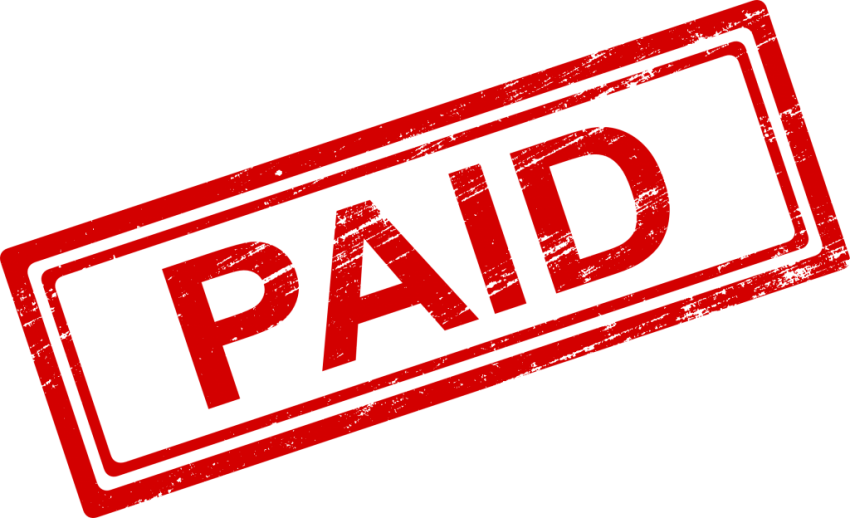 Paid in full stamp png. Image