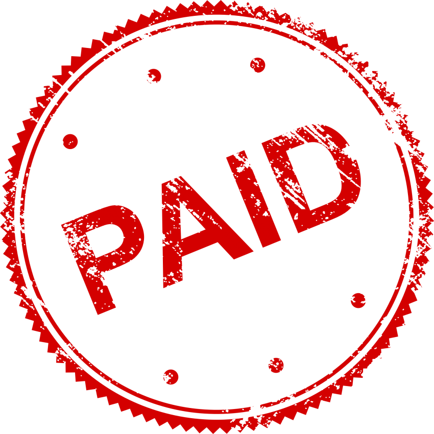 Paid in full stamp png. Free images toppng transparent