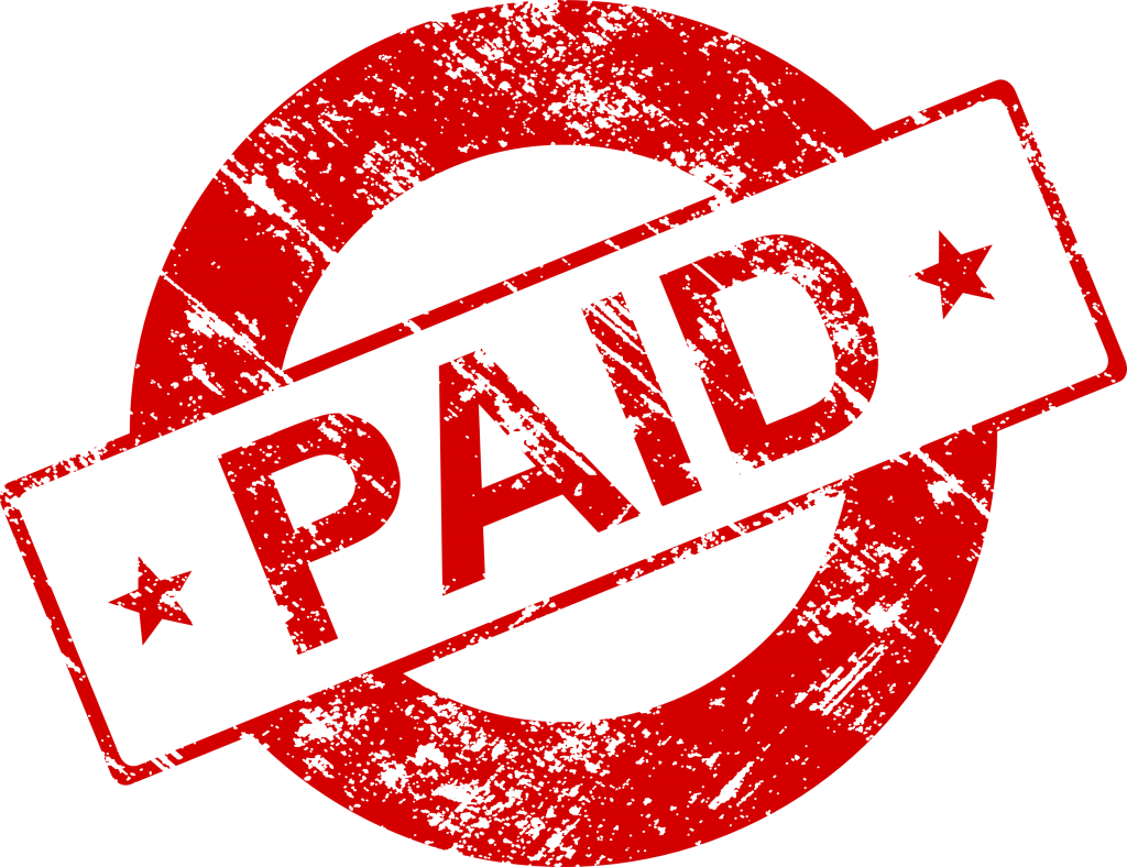 Paid in full stamp png. Vector transparent svg