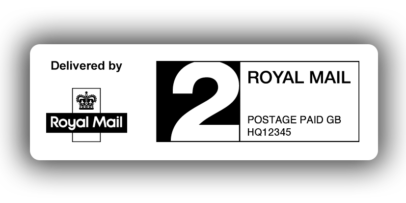 Paid postage png. Royal mail nd class