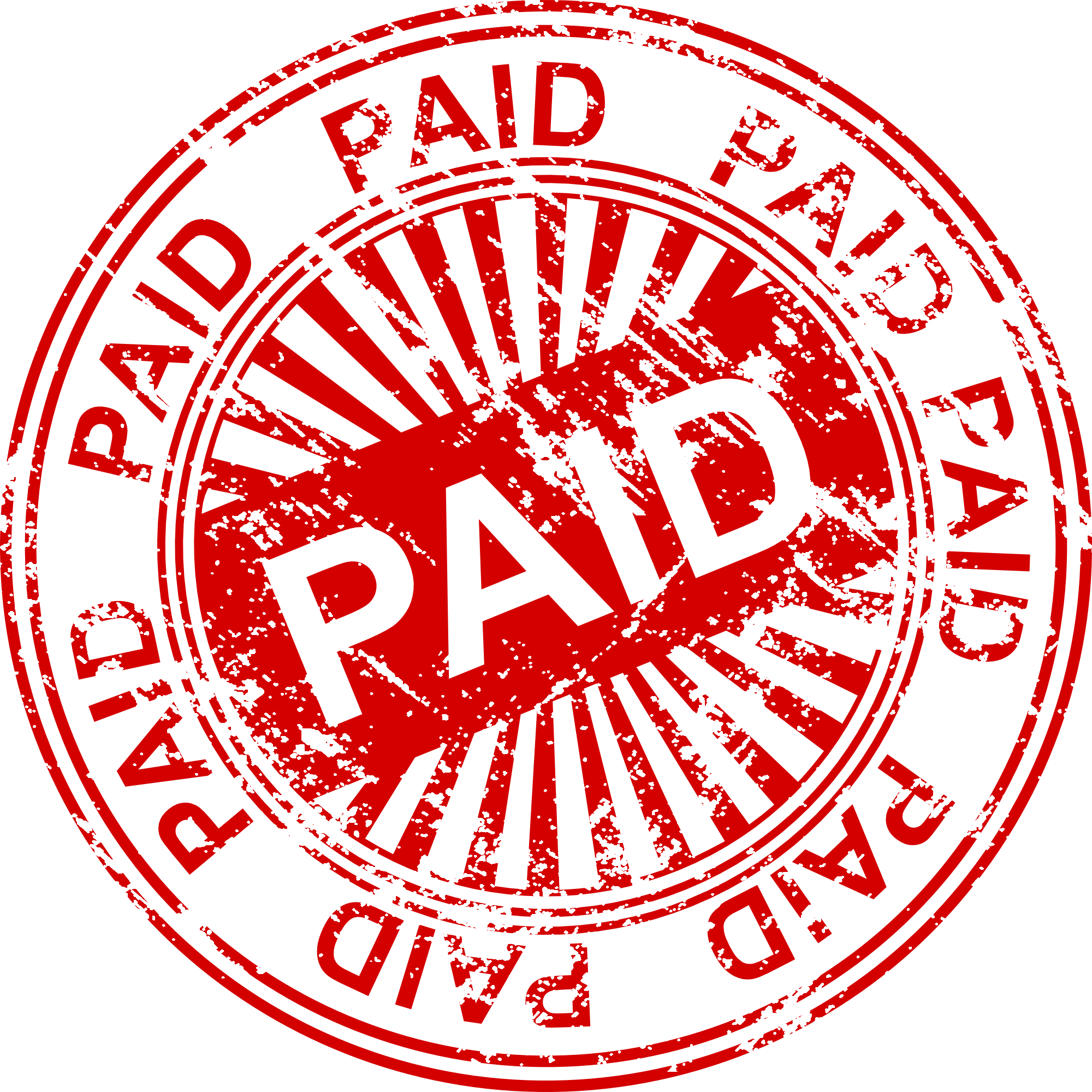 Paid seal png. Stamp vector transparent