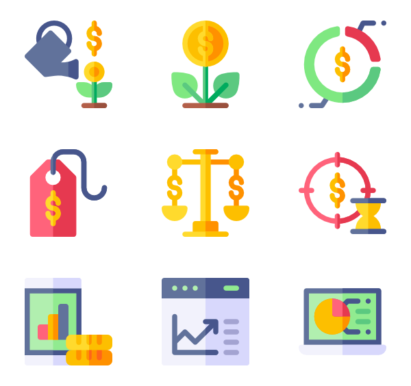Working vector office workers. Payment icons free crowdfunding