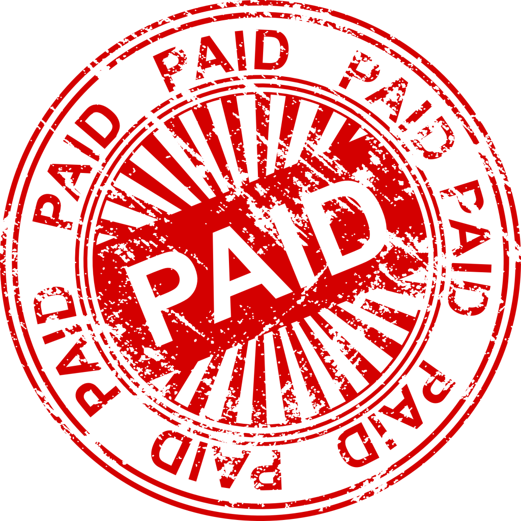 Paid stamp png. Vector transparent svg