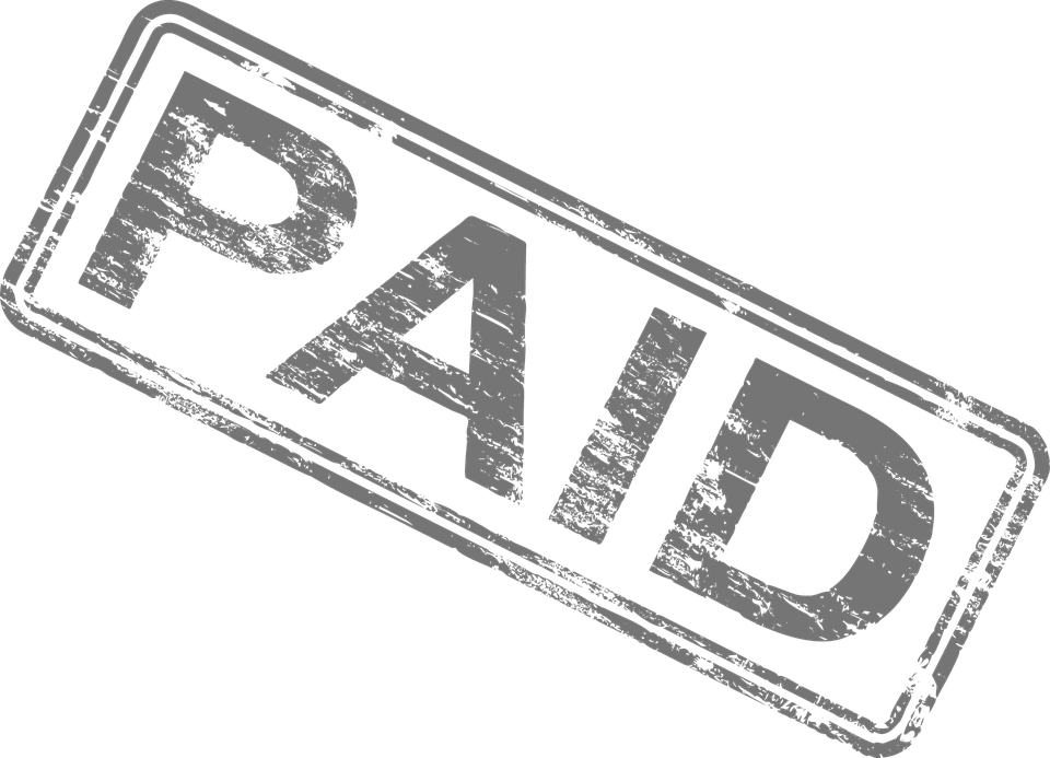 Paid in full stamp png. Ensuring payment before during