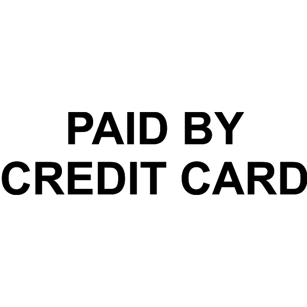 Paid stamp png. Pay by credit card