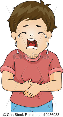 Pain clipart stomach cramp. Ache boy illustration of banner royalty free download