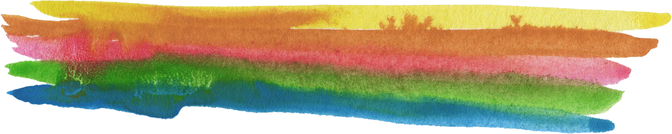 Paint banner png. Colorful watercolor brush