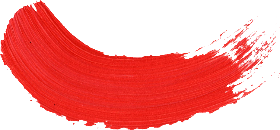 Paint brush png. Red stroke transparent