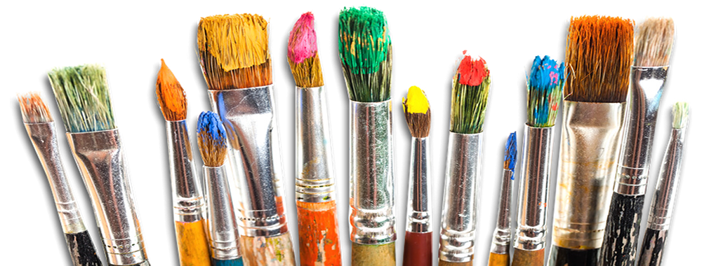 Paint brushes png. Oil painting materials
